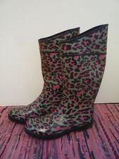 Bottes de pluie léopard gris noir rose JOUJOU (André) 38