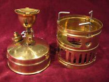 Vintage SVEA Optimus 123 Brass Kerosene Burner Camp Portable Stove Sweden  Excl!