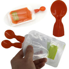 Silicone Squeeze Soft Tip Baby Feeding Spoons for Reusable Food Pouch EL