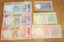 India Currency Gandhi 1 5 10 20 50 100 Rupees 12 Crisp Uncirculated Notes 2 each