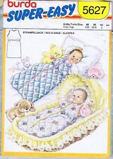 Vintage Burda 5627 Sewing Pattern Baby Toddler Sleeping Bag Size 6-18 months, 3