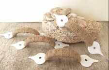 Rustic Rope Cabinet handles drawer furniture pulls pull knob handle white