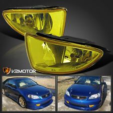 For 2004-2005 Honda Civic 2/4Dr Yellow Bumper Driving Fog Lights w/Bulbs+Switch