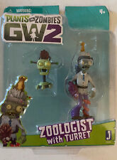 New Jazwares Plants vs Zombies GW2 Zoologist with Turret *package not mint*