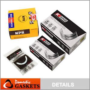 Fit 99-05 Hyundai Sonata Santa Fe Kia Optima 2.4L Main&Rod Bearing&NPR Ring G4JS
