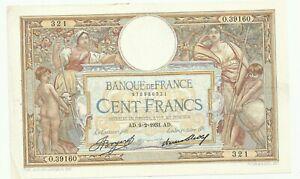 100 FRANCS LUC OLIVIER MERSON 09/02/1933