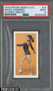 1979 Brooke Bond & Co. Olympic Greats #19 Nadia Comaneci PSA 9 MINT