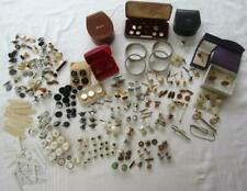 SUPERB VICTORIAN ANTIQUE VINTAGE JOB LOT CUFFLINKS STUDS TIEPINS ROLLED GOLD ETC