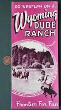 1950-60s Era Cheyenne,Wyoming Dude Ranch brochure-VINTAGE COWBOY COOL!