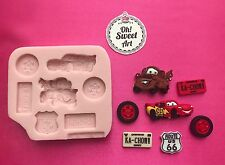 CARS DISNEY  Silicone Mold Food Cake Decoration toppers soap  cupcakes  FDA