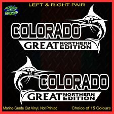 COLORADO stickers accessories Ute Car MX Funny decal GREAT NORTHERN 200mm PAIR