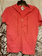 New York Laundry brand coral super soft hooded sweatshirt women's size small