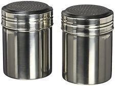 2 Set 10-ounces Stainless Steel Classic dredge Salt and Pepper shaker set