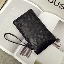 Glitter Women Wrist Clutch Card Purse Long Wallet Zipper Handbag Evening Bag