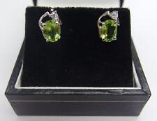 Handcrafted 925 Sterling Silver earring's Apple Design Green Peridot Earrings