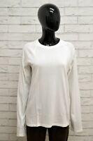 Maglia LEVIS Donna Taglia L Maglietta Shirt Woman Manica Lunga Cotone Bianco