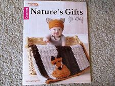 Leisure Arts CROCHET NATURE'S GIFTS FOR BABY blanket pattern book