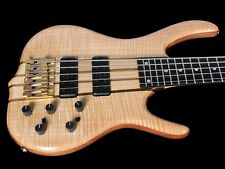 2018 KEN SMITH 5GN FLAME TOP 5 STRING BASS w 18V ACTIVE & NECK-THRU ~NATURAL OIL
