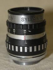 VINTAGE SYLVANIA 25mm 1:1.9 VIDEO CINE C MOUNT LENS 7228