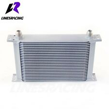 25 Row 10AN Universal Engine Transmission 248mm Oil Cooler Kit Silver Fits Chevy