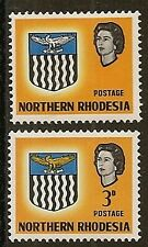 """NORTHERN RHODESIA 1963 3d """"VALUE AND ORANGE (EAGLE) OMITTED"""" SG78b MNH"""
