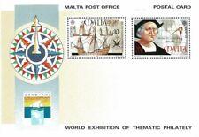 Malta 1992 Genova '92 World Exhibition Of Thematic Philately Post Card Mint