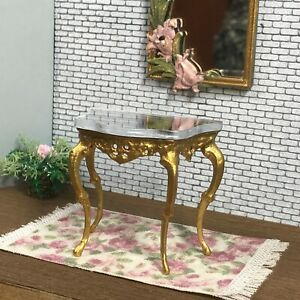 1:16 Dollhouse miniature Victorian gold console table - Lundby scale