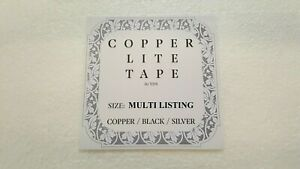 Stained Glass Supplies - ** New Foil ' Copper Lite ' Tape - Multi-Listing