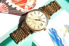 Vintage Omega Seamaster Quartz 1342 Mens Watch Swiss Date Beads of Rice Band