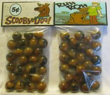 2 Bags Of Scooby-Doo Cartoon Show Promo Marbles
