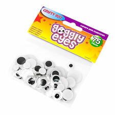 Set of 450 Round Googly Eyes 4 Assorted Sizes Childrens Fun Adhesive Stickers