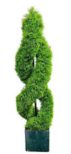 1PC Artificial Cypress Spiral Tree Outdoor Indoor Topiary Tree Potted  Decor