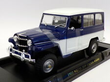 Lucky Diecast 1/18 Scale 92858 - 1955 Willy's Jeep Station Wagon - Blue/White