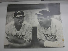 Babe Ruth Lou Gehrig New York Yankees 16x20 Reproduction Photo jh