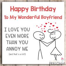 Funny Birthday Card For Boyfriend From Girlfriend Joke Humour Rude