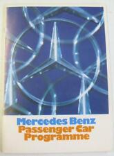 MERCEDES BENZ Range inc Coupes & 600 Car Sales Brochure 1971-72