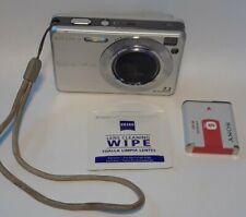 Sony Cyber-Shot DSC-W120 7.2 Mega Pixels Digital Camera Silver W/Battery