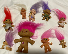 Trolls lot Vintage 90's Dolls 9 Total Mixed Including Baby