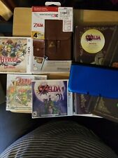 Nintendo the legend of zelda Lot. 3 games 2 books 3DSxl console Magazine