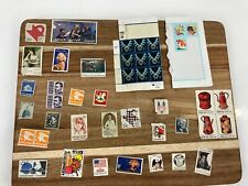 Lot of 45 Assorted Used Stamps Celebrities & Historical Marilyn Monroe Vintage