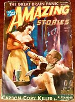 Amazing Stories July 1943, McCauley GGA Cover, G+, rear cover missing