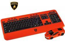 Lamborghini Aventadoe Wireless Car Mouse & Keyboard Set Christmas Gift USB Red