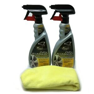 2 Eagle One 23 oz PVD & Aluminum Wheel Cleaner With Free Microfiber Towel