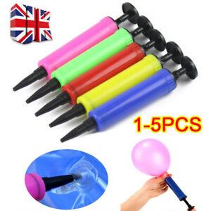 1-5PCS Balloon pump balloon Accessories Hand Push Mini Plastic Inflator Random