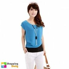 Unbranded Chiffon Short Sleeve Hand-wash Only Tops for Women