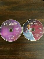 Disney Cinderella (Blu-ray + DVD) Anniversary Edition NO CASE! NO DIGITAL! USED!