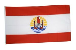 Fahne Frankreich Französisch Polynesien Flagge polynesische Hissflagge 90x150cm