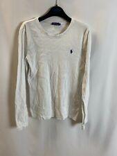 Polo Ralph Lauren Langarmshirt Weiß Größe L Damen Langarm Shirt Pullover VW010
