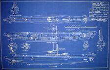 WW2 U-Boat Type 7C Blueprint Design Plan 1942 15x23 (215)