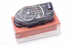 LEICA M MR-4 LIGHT METER BLACK CHROME IN BOX FOR M3,M2,M4, M4-2, M4-P CAMERAS